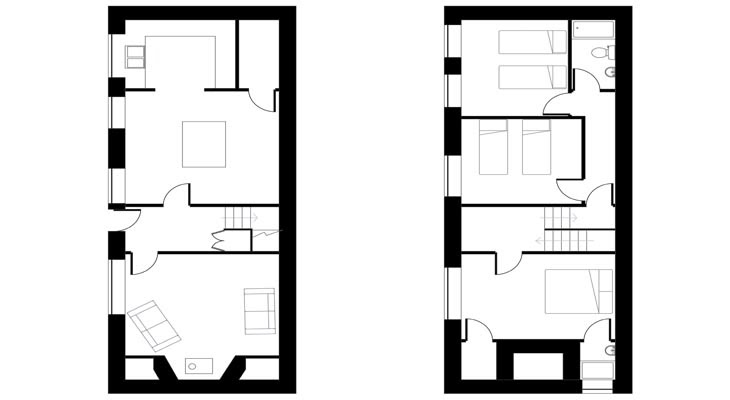 The crows nest floor plan chapel knap accommodation for Crows nest house plans